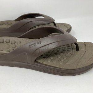 Crocs Reviva Men's Flip Flop Sandals Sz 13
